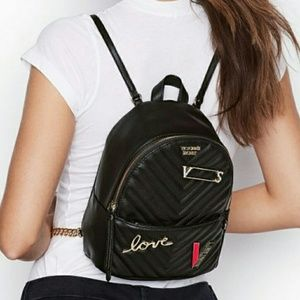 Victoria's Secret V Quilt Small City Backpack